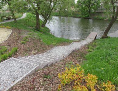 Zagospodarowanie terenu przy zbiorniku wodnym Krynica w Miączynie