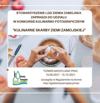 """Konkurs """"Kulinarne skarby Ziemi Zamojskiej"""""""