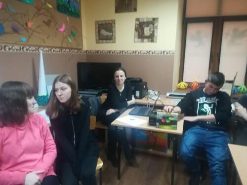 2018.02.20 - Michał Anioł w Nieliszu – organizacja zajęć kulturalnych dla dzieci i młodzieży