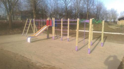 2018.06.13 - Budowa placu zabaw w miejscowości Grabowiec